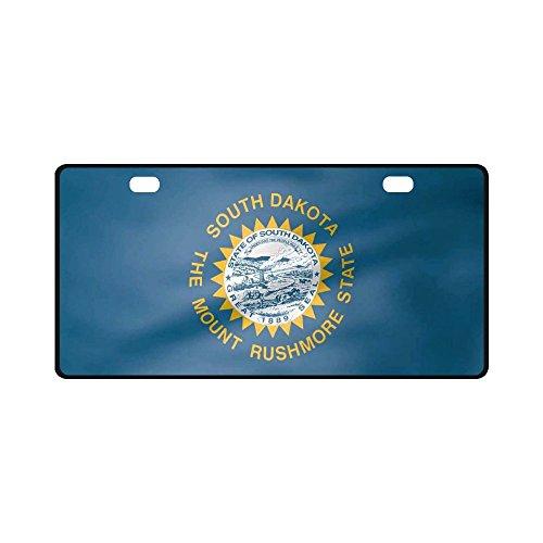 South Dakota State Flag Pattern Metal License Plate Auto Car Tag 11.8
