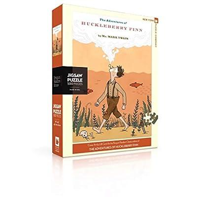 New York Puzzle Company - Penguin Random House Huckleberry Finn - 500 Piece Jigsaw Puzzle: Toys & Games