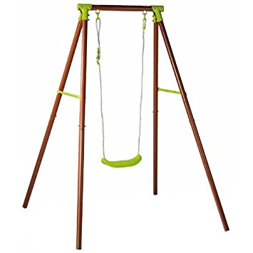 Attirant Childrens Toy Outdoor Fun Swing   Single Seat Kids Garden Swing   A Frame