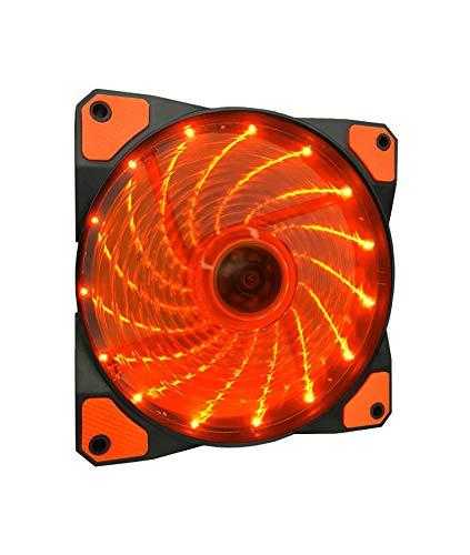 Apevia CF12SL-SOG 120mm Orange LED Ultra Silent Case Fan w/ 15 LEDs & Anti-Vibration Rubber - Fan Orange Case Thermal