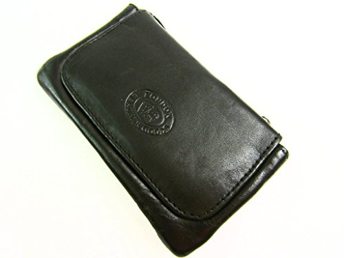 Pouch Holder Girls Brown Dark Leather High Coin Black Small Wallet Keyring Ladies Real Quality Mens SaxRwq4