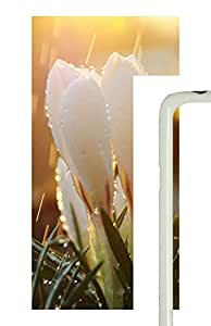 Samsung Galaxy S5 White Dew Flowers PC Custom Samsung Galaxy S5 Case Cover White
