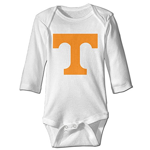 Baby Tennessee Volunteers Logo 100% Cotton Jumpsuit White 6 M