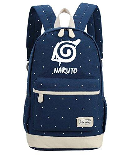YOYOSHome Anime Naruto Cosplay Daypack Bookbag Laptop Backpack School Bag (Naruto 2)