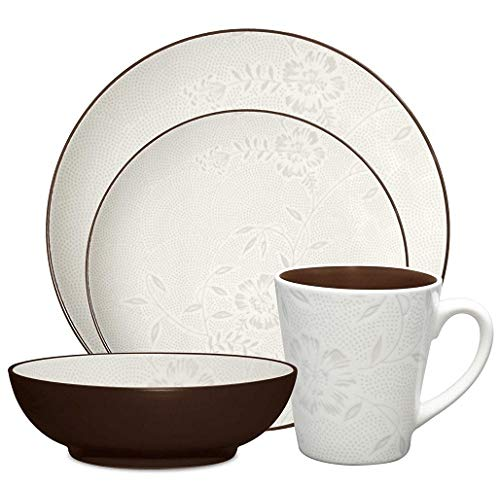 Noritake Colorwave Bloom 4-Piece Place Setting, Chocolate