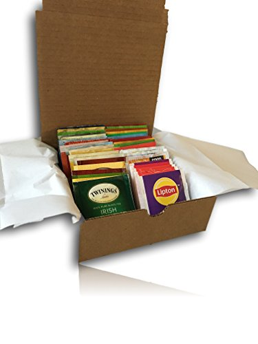 AtHome Plus Ultimate Assorted Tea Variety Pack-- Bigelow, Stash, Good Earth, Salada, Twining Teas (40 Count) - Flavorful Sampler Caffeinated and Decaffeinated Fresh Natural Teabags packed in Gift Box