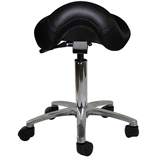 2xhome Adjustable Saddle Stool Chair With Forward