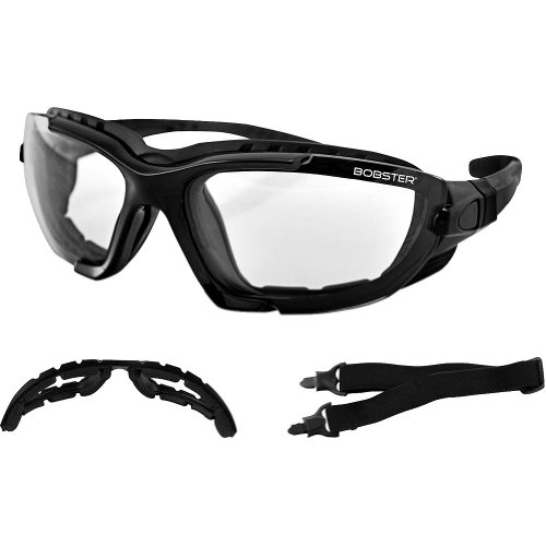 Bobster Sport & Street Convertible Motorcycle Touring Sunglasses - Black/Anti-fog Smoked, Amber, Clear / One Size Fits All