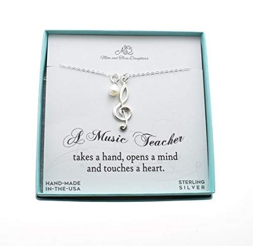 (Music Staff Necklace In Sterling Silver On An 18