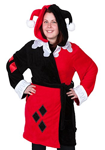 DC Comics Harley Quinn Deluxe Exclusive Adult Robe (L/XL)