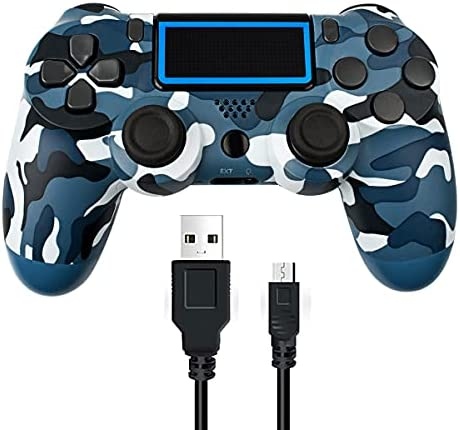 PS4 Wireless Controller Dual Vibration Shock Game Handle Joystick Gamepad for Playstation 4 Compatible with Playstation 4 / PS4 Slim / PS4 Pro and PC(Windows 7/8 / 10) - Grey Camouflage