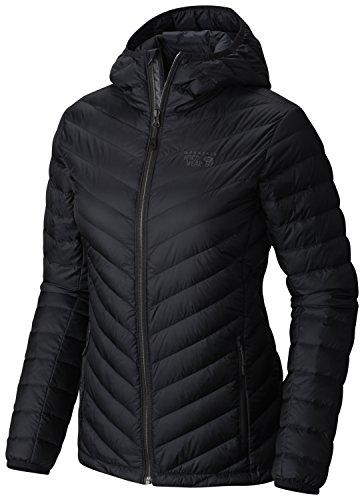 - Mountain Hardwear Women's Micro Ratio Hooded Down Jacket, Black, XS