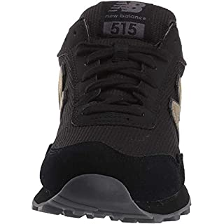 New Balance Women's 515 V1 Sneaker, Black/Phantom/Gold Metallic, 9 W US