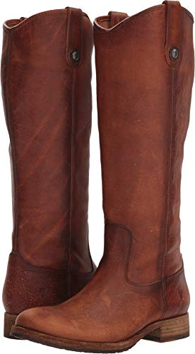 Womens Button FRYE Melissa Tall Cognac Lug aq070w