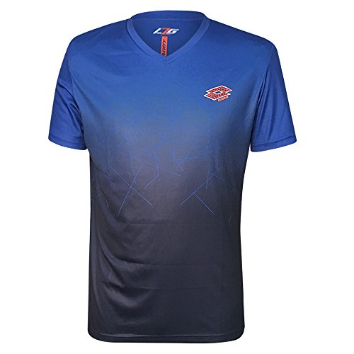 Grand Slam Jacket - Lotto Athletic Men's Performance Knit Short Sleeve Tee Shirt (X-Large, Blue-Navy)