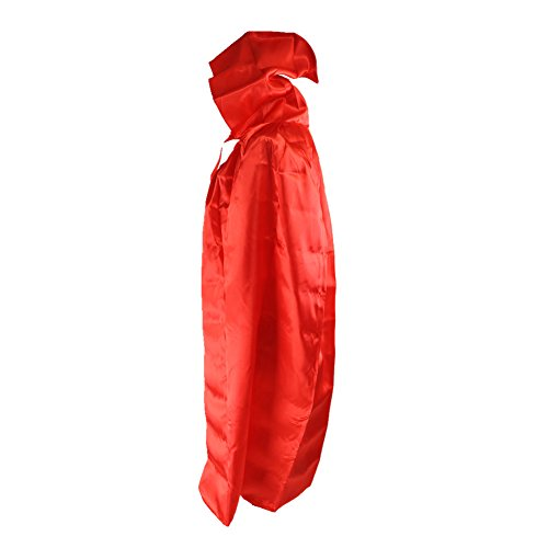 Labellevie Kids Cloak with Hood Child Unisex Hooded Cape Costume Halloween Party Red ()