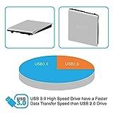 Novapolt External CD Drive USB 3.0 - Ultra Slim DVD Drive CD DVD Writer/Rewriter/CD Burner for High Speed Data Transfer for Laptops Desktops and Notebooks