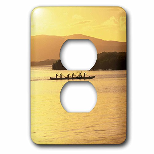 3dRose lsp_89524_6 Outrigger Canoe Sunset Molokai Hawaii Us12 Dpb0074 Douglas Peebles Light Switch Cover by 3dRose