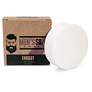 Shaving Soap Made with Natural Ingredients Creates Rich Lather for a Smooth Shave. Includes Shea Butter, Vitamin E, and Coconut Oil to Protect & Moisturize the Skin (Lavender, Puck)