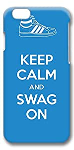 iPhone 6 Case, Ultra Slim Pattern Bumper for iPhone 6 Cover (4.7) Keep Calm And Swag On 3D iPhone 6 cases for Girls iphone 6 case hard PC Skin