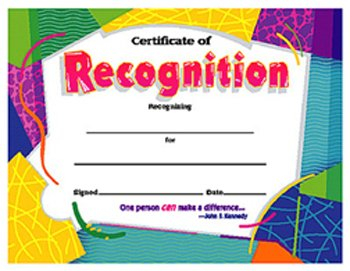 Charming Certificate Of Recognition Colorful  Blank Certificate Of Recognition