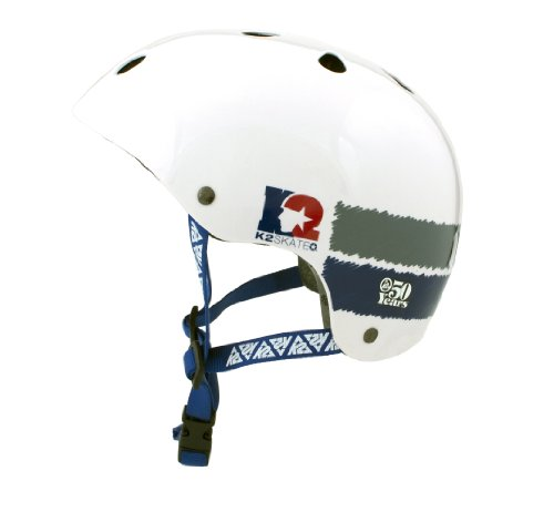 K2 Sports 50Th Anniversary Helmet (White/Blue/Grey, 50-54 cm)