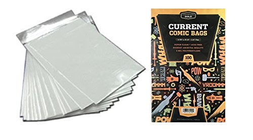 1000 CBG Current Comic Bags and Boards - ACID FREE WHITE - Archival Quality for protecting your Comic Books by Cardboard Gold
