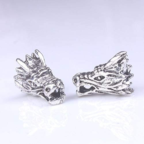 Amazon.com: Calvas 10pcs/lot Tibetan Silver Dragon Head Spacer Beads Supplies for Bracelet Making Metal findings Wholesale Jewelry Accessories: Arts, Crafts & Sewing
