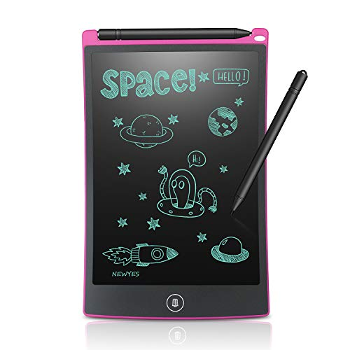 - Newyes 8.5-Inch LCD Writing Tablet-Can Be Used as Office Whiteboard Bulletin Board Kitchen Memo Notice Fridge Board Large Daily Planner Gifts for Kids (Pink)