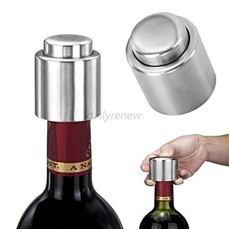 Edelstahl Rotwein Vakuum versiegelt Wein Lagerung Flasche Stopper Plug Cap FL