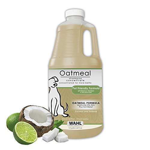 WAHL Oatmeal Dog/Pet Shampoo Tan 821004-050 Moisturizing Oatmeal Dog Grooming Shampoo for Dry, Itchy, Sensitive Skin