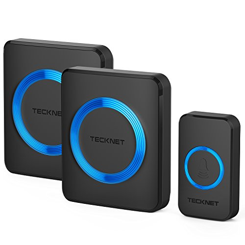 TeckNet Wireless Doorbell, Twin Waterproof Wall...