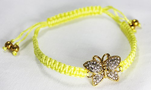 Juicy Couture Friendship String Cord Bracelet (Butterfly/Yellow) (Juicy Couture Friendship Bracelet)