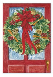 Amazon Com Willowbrook Fresh Scents Scented Sachet Red Door Wreath