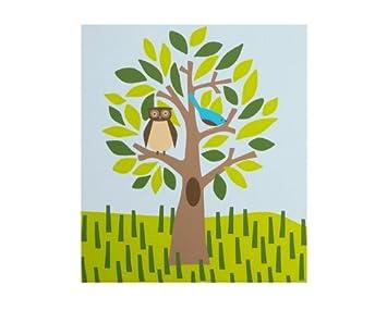 Dwell Wall Art - Owl in a Tree  sc 1 st  Amazon.com & Amazon.com : Dwell Wall Art - Owl in a Tree : Nursery Wall Decor : Baby