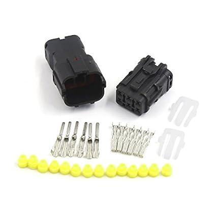 eDealMax Sellado eléctrica 6 Pin manera impermeable 1.8mm alambre conector del zócalo del coche