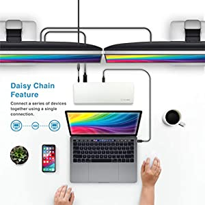 ICY BOX RED DOT AWARD WINNER 2019 Thunderbolt 3 Type-C Notebook/Laptop, PC Docking Station - SD 4.0 Card Reader, 180W and Dual 4K for Windows - Extend your Monitor up to 3. NOTE: only for Windows user (Color: Thunderbolt 3 | Red Dot 2019 Winner, Tamaño: Red Dot Winner 2019 | Thunderbolt 3)