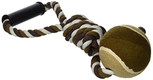 Ethical Pet Mega Twister Heavy Twisted Mega Ball Tug 17-Inch Dog Toy (Mega Twister Rope)