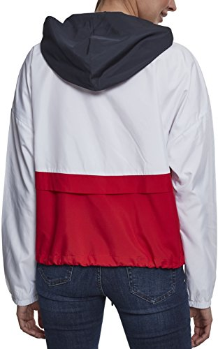 fire Cappotto Red Urban Multicolore Classics navy 01243 Donna white awYFvfq