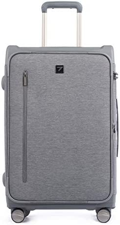 Totell Expandable Softside Luggage 24 inch Lightweight Business Cabin Suitcase with TSA Lock for Men and Women Grey
