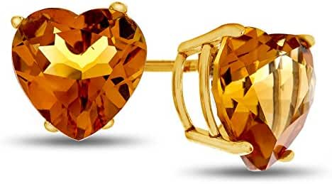 10 kt Yellow Gold 7x7mm Heart Shaped Post-With-Friction-Back Stud Earrings