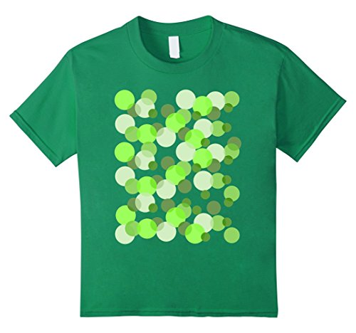 unisex-child Green Spots Polka dot T-shirt 6 Kelly Green by Abstract design Studio
