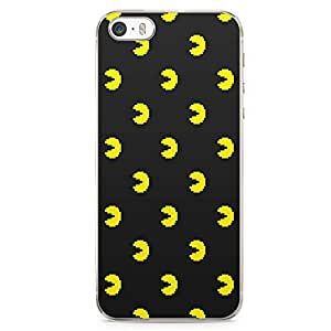 Loud Universe Pacman Pattern iPhone 5 / 5s Case Retro Game Pacman iPhone 5 / 5s Cover with Transparent Edges