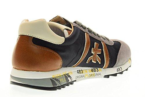 PREMIATA zapatos de los hombres zapatillas de deporte bajas LUCY 1985 Azul