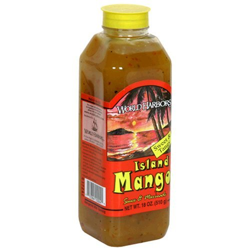(World Harbors Island Mango Sauce and Marinade, 18-Ounce Bottle (Pack of 6) by World Harbor)