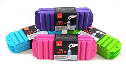 4 Ice Rolls Making Trays with Covers - Makes Perfect Ice Cube Sticks For Bottled Beverages, Water Bottles, Sport Drinks, Bottled Soda. Makes a Total of 40 Ice Tubes. (1) (Оne Расk) ()
