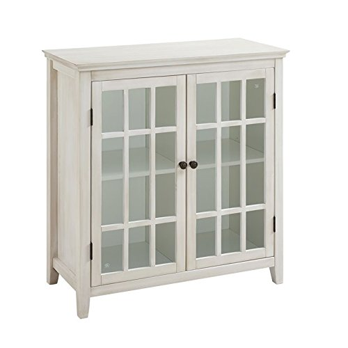 Riverbay Furniture Antique Double Door Curio Cabinet in ()