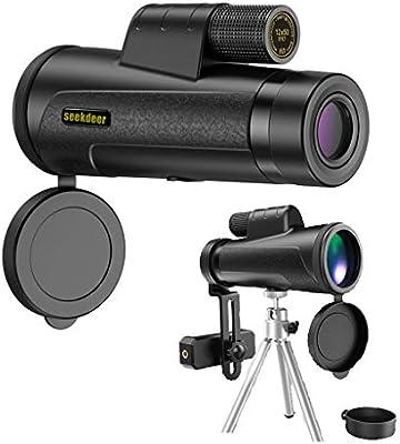 TYXS Telescopio Monocular,12X50 HD Zoom óptico con Trípode Y ...