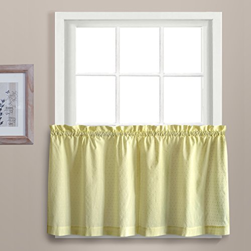United Curtain Dorothy Window Curtain Swiss Dot Kitchen Swag, 54 by 38