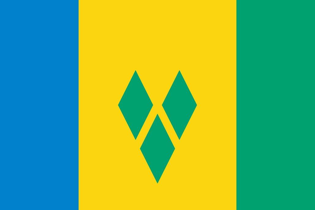 太田旗店 セントビンセント 国旗 地球にやさしい外国旗 (140×210cm) 140×210cm  B07C3J4Q3J